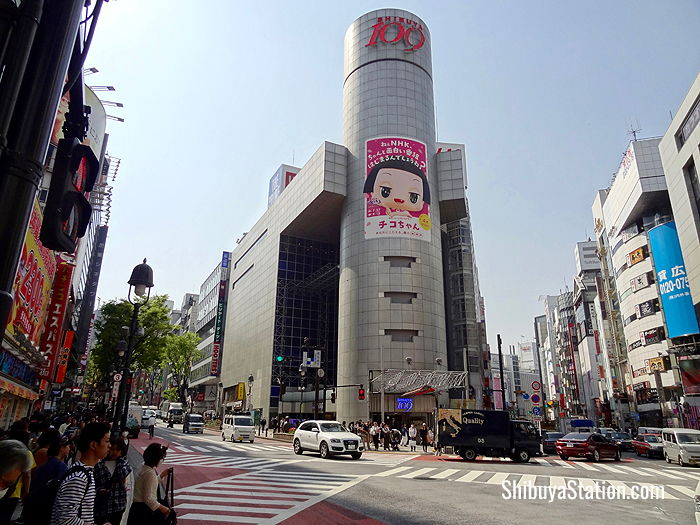 The iconic Shibuya 109 building is a landmark in Japan's fashion scene, and houses 10 floors of clothing and accessories for young women