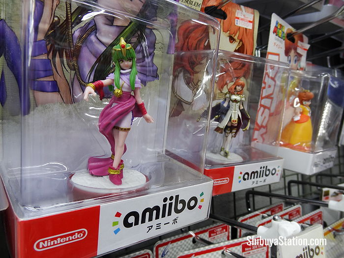 Nintendo Amiibo figurines at Bic Camera Hachiko store