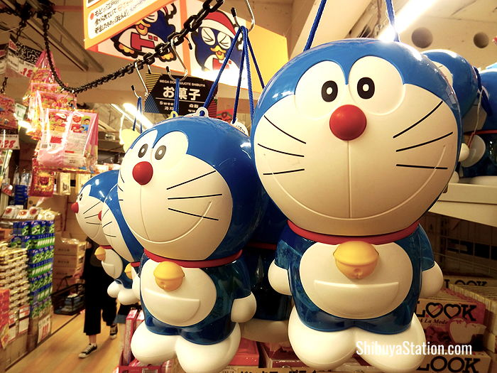 Doraemon candy packaging at MEGA Don Quijote Shibuya Honten