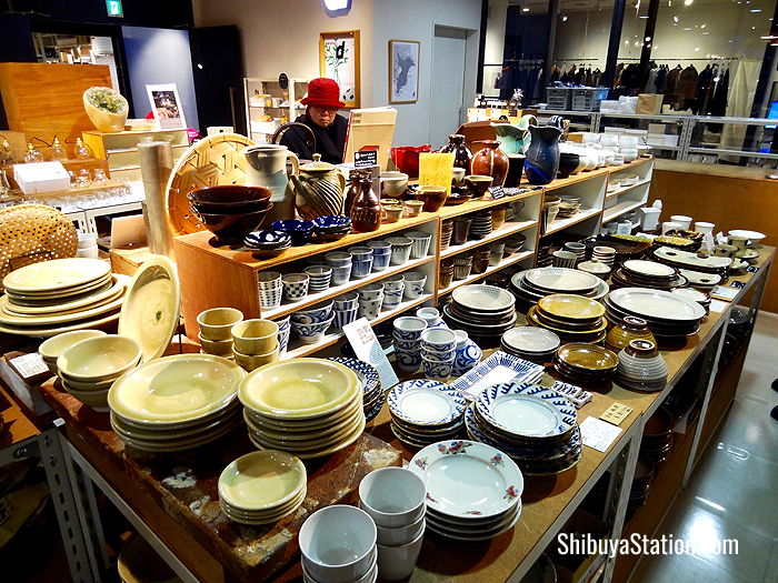 Ceramics are one of many craft goods available at Hikarie