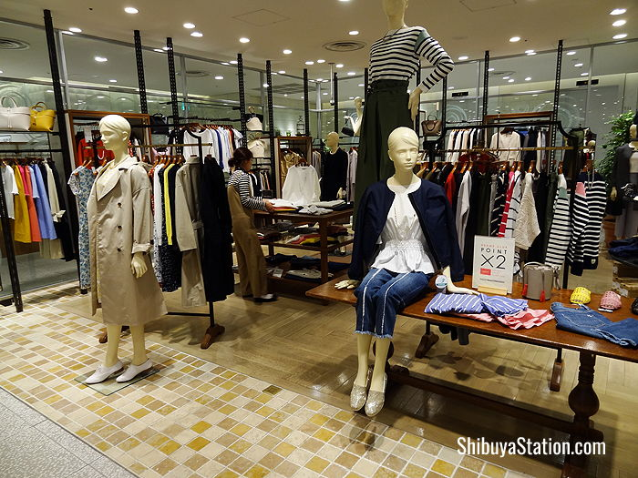 Casual wear retailer Beams has a Beams Lights shop on the fourth floor at Hikarie