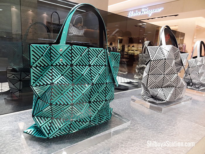 Some of the latest tote bags from Bao Bao Issey Miyake at Tokyu Honten Department Store