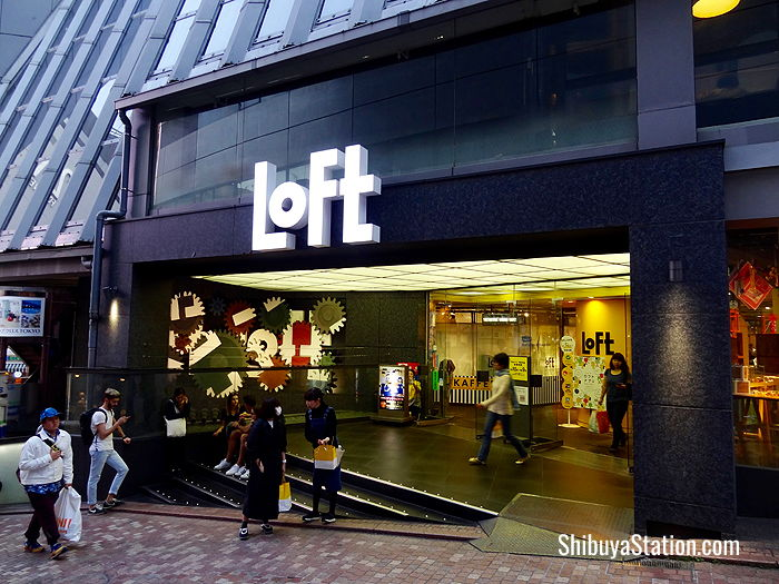With a front entrance located off Koen-dori street, Loft Shibuya is a popular variety store seven floors of beauty, lifestyle and interior goods