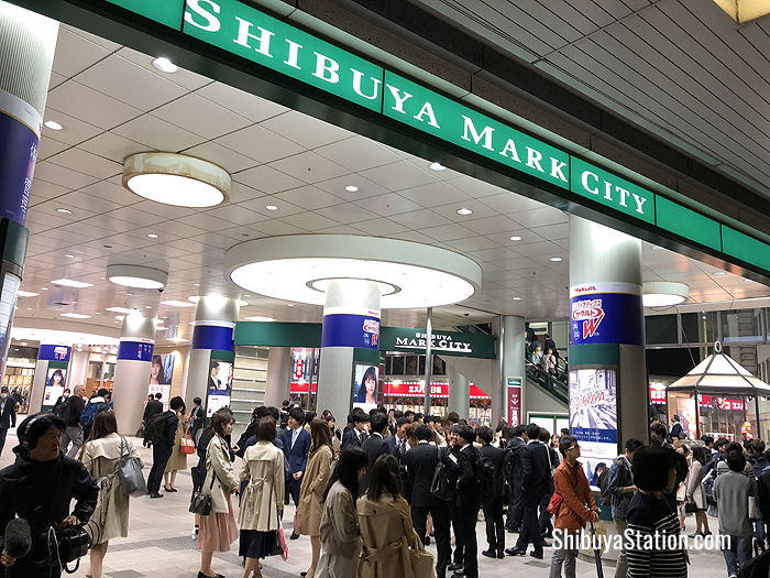 Facing Shibuya Station, Shibuya Mark City is a popular dining spot for Japanese company workers
