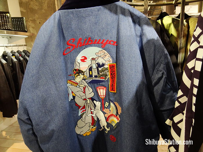 Sukajan-style hanten jackets at Vanquish in Shibuya 109Men's Department Store