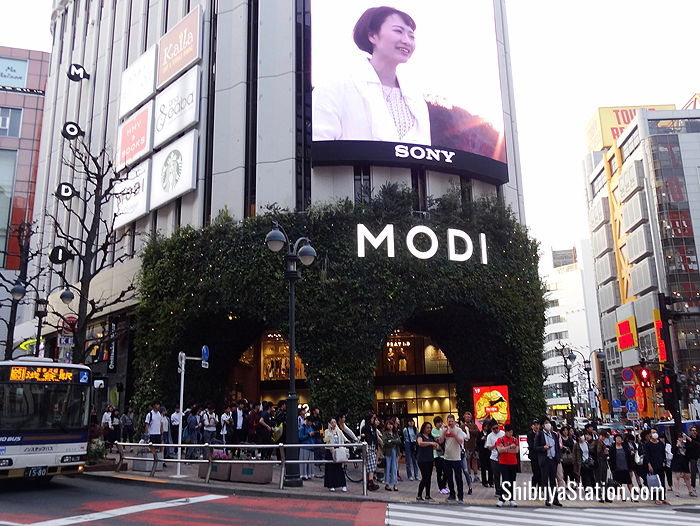 Located a short walk north of Shibuya Station, Shibuya MODI is a 10-story department store offering a mix of fashion and entertainment