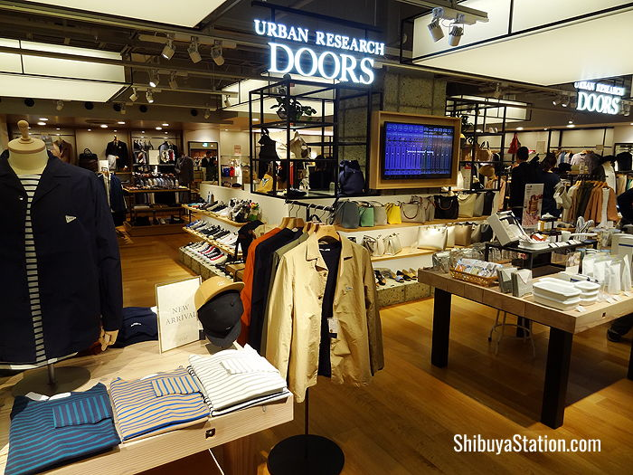 Urban Research Doors at MODI sells stylish urban casual wear, handbags and interior goods
