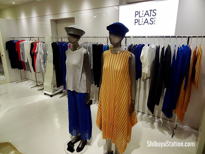 Offerings by designer Issey Miyake on the seventh floor of the West Building at Tokyu Department Store's Toyoko branch at Shibuya Station