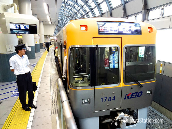 The Keio Inokashira Line has five-car trains running to Kichijoji in western Tokyo