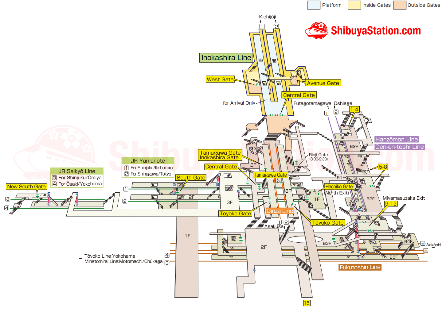 Shibuya Station Map