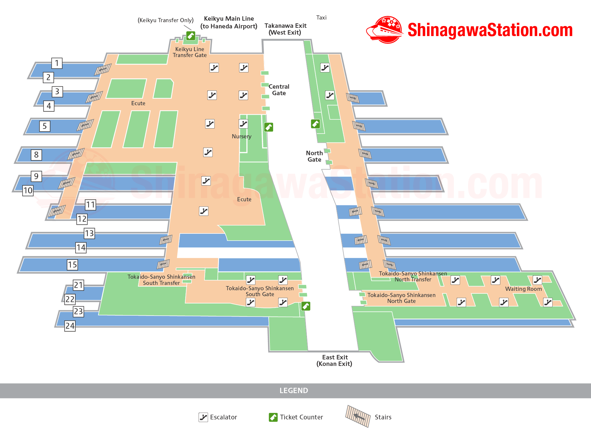 Shinagawa Station Map – Finding Your Way – Shinagawa Station on