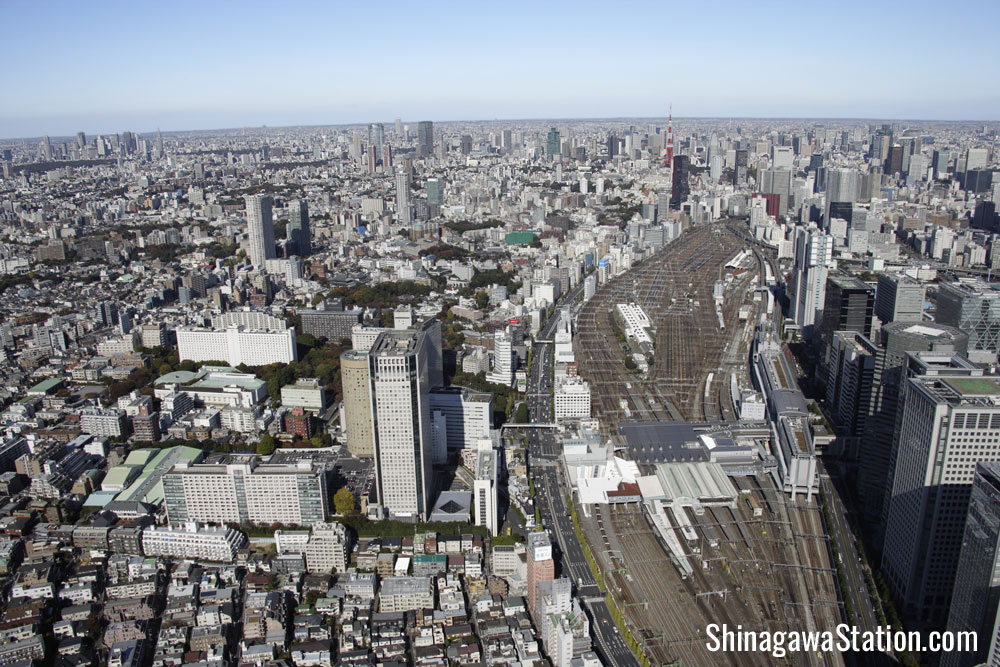Shinagawa Station Aerial View