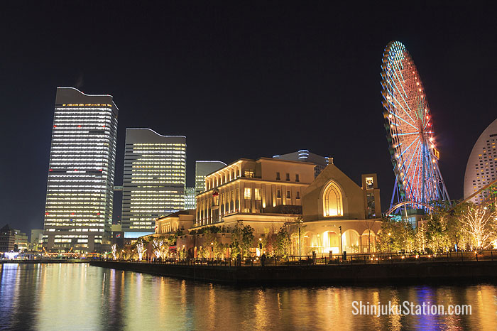Yokohama Minatomirai area at night