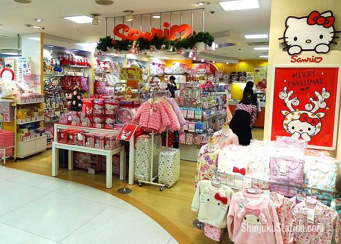 Hello Kitty goods are on offer at the ninth-floor Sanrio boutique