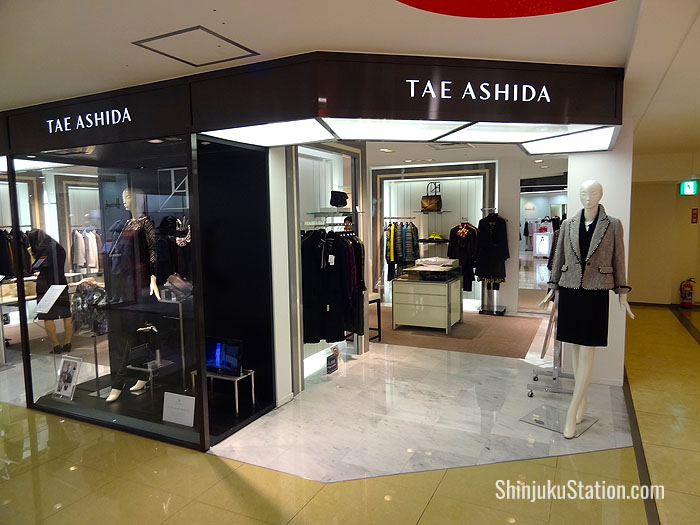 Japanese labels such as Tae Ashida offer a more sophisticated, elegant look compared to youth brands in the Lumine malls