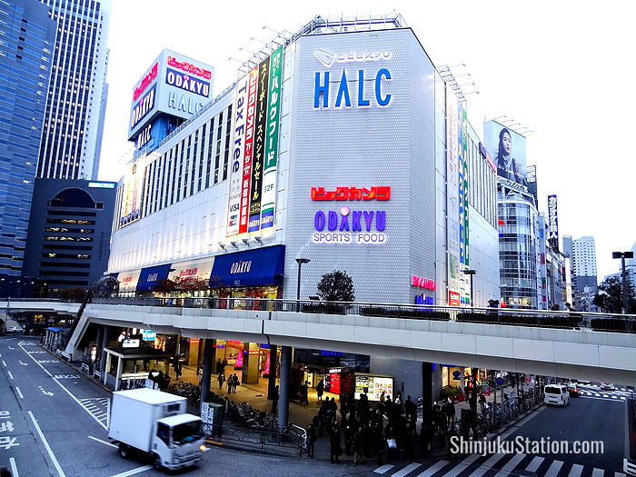 HALC is a sports and electronics goods annex at Odakyu Department Store