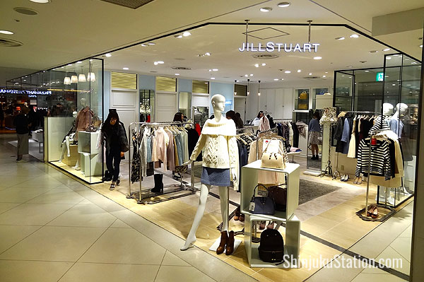 Jill Stuart boutique on the second floor