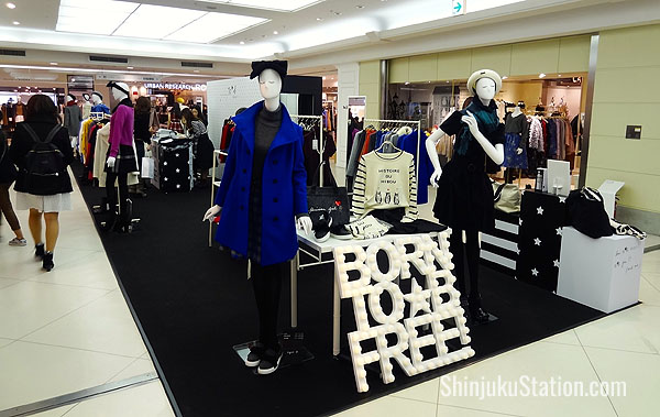The second floor of Lumine 2 has a variety of smaller boutiques and a central area for temporary displays