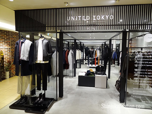 United Tokyo sells chic urban wear made exclusively in Japan