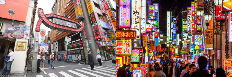 Kabukicho entertainment district.