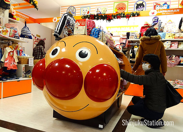 The Anpanman and Sanrio shops feature popular characters from anime and children's books