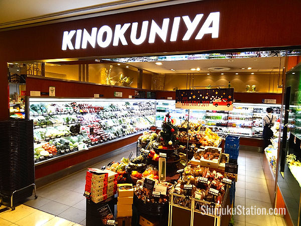 Kinokuniya supermarket offers specialty foods and high-end fruit