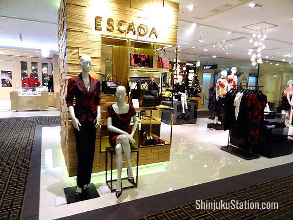 Takashimaya Shinjuku is packed with luxury brands such as Escada
