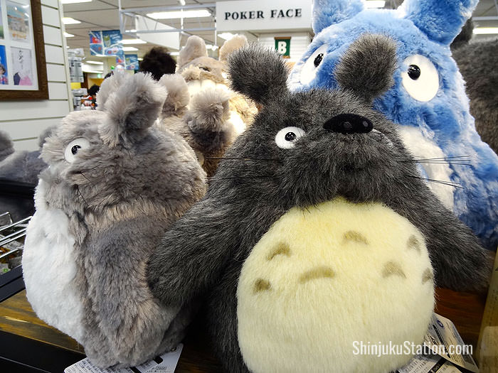 Stuffed toys inspired by the Studio Ghibli anime My Neighbor Totoro