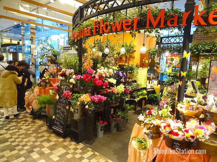 The first floor has accessories, a bakery and a florist