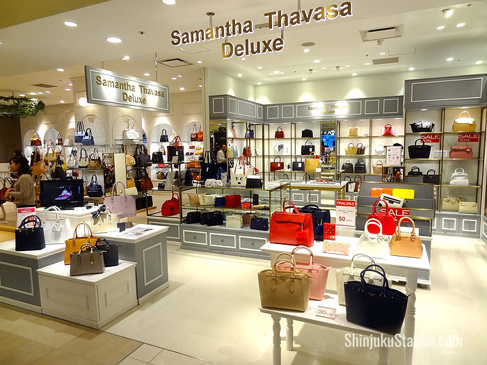 Japanese deluxe handbags by Samantha Thavasa