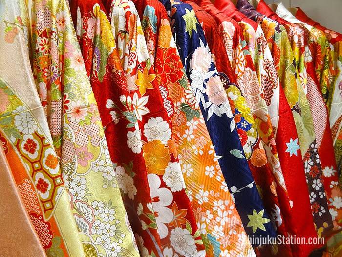 Kimonos for sale and rental