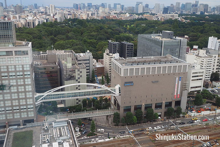 Kinokuniya is housed in a seven-story annex of Takashimaya Times Square
