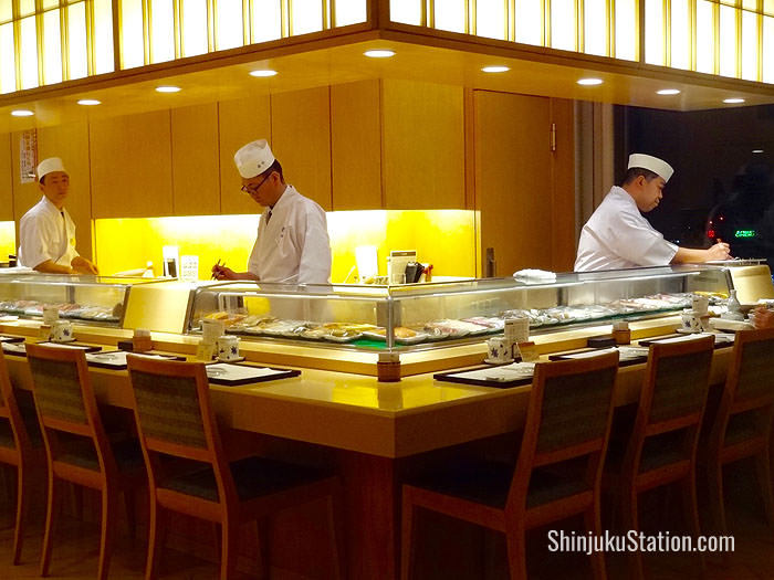 Horikawa is a luxurious sushi and teppanyaki restaurant on the 19th floor