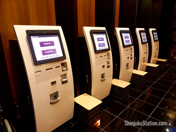 Check-in machines at APA Hotel Shinjuku Kabukicho Tower  Lobby