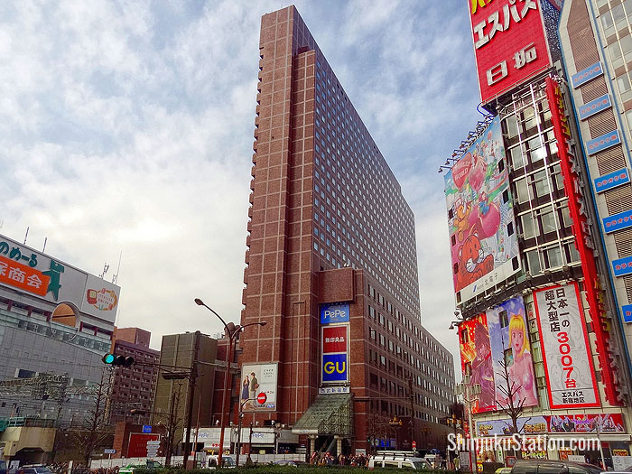 The Shinjuku Prince Hotel overlooks Yasukuni-dori street, which divides the Shinjuku Station area from Kabukicho