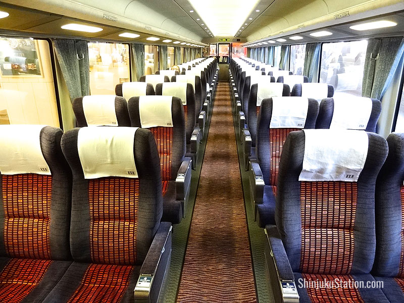 Romancecar trains are a comfortable, panoramic way to get to the spas at Hakone