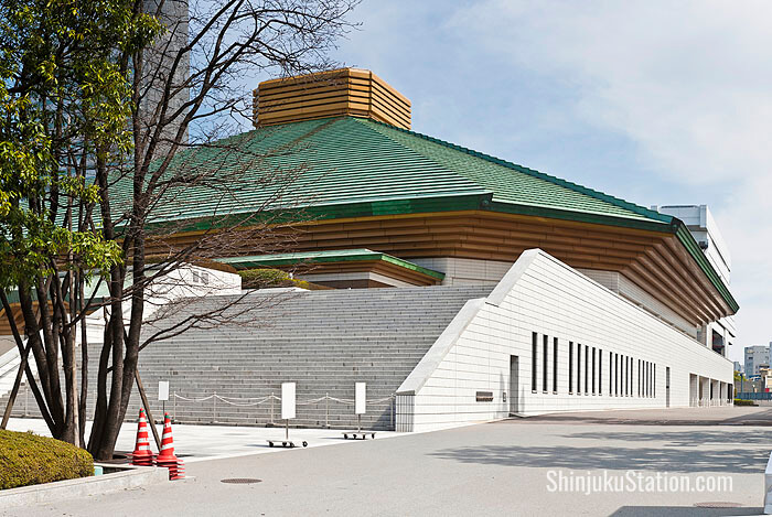 Ryogoku Kokugikan stadium hosts sumo tournaments three times every year