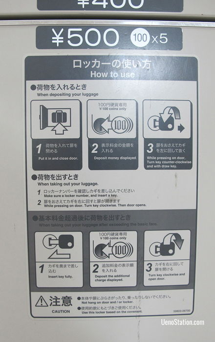 Very often you can find English instructions on key lockers