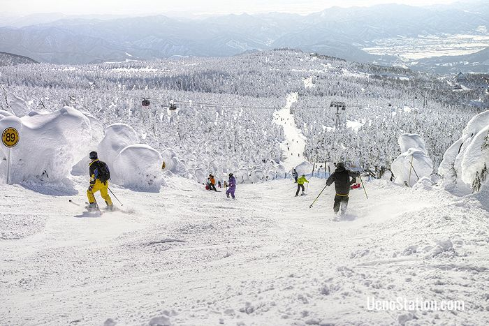 Mount Zao is Yamagata's most popular skiing location