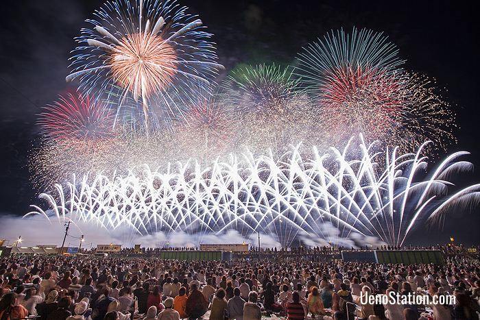 Japan biggest fireworks competition is held every August in Omagari, Akita Prefecture