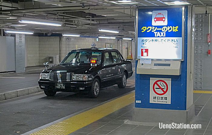 The taxi rank at Keisei Ueno