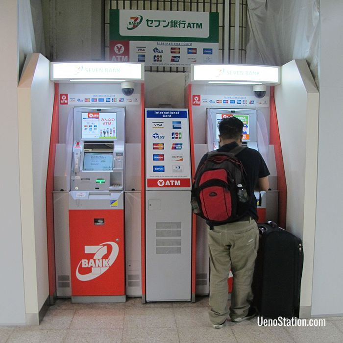 Seven Bank ATMs at Keisei Ueno Station