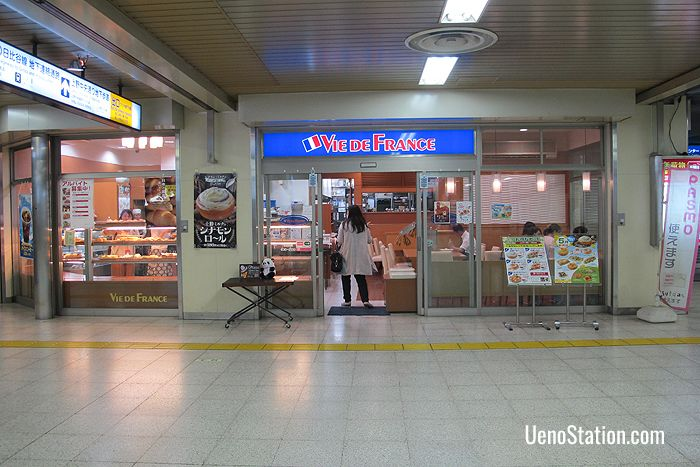 The bakery in Keisei Ueno Station