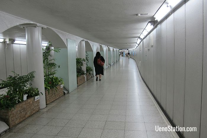 The passageway between Ginza Line West Gate and Keisei Ueno Station