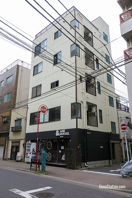 The &And Hostel Ueno building