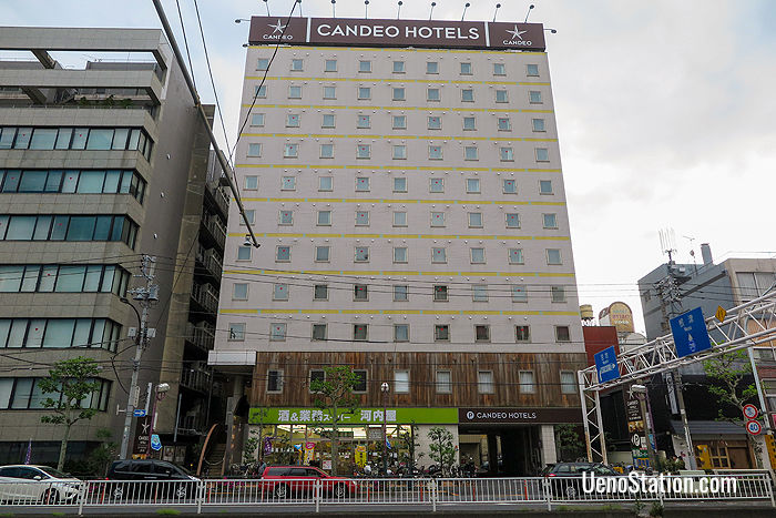 A street view of Candeo Hotels Ueno Park