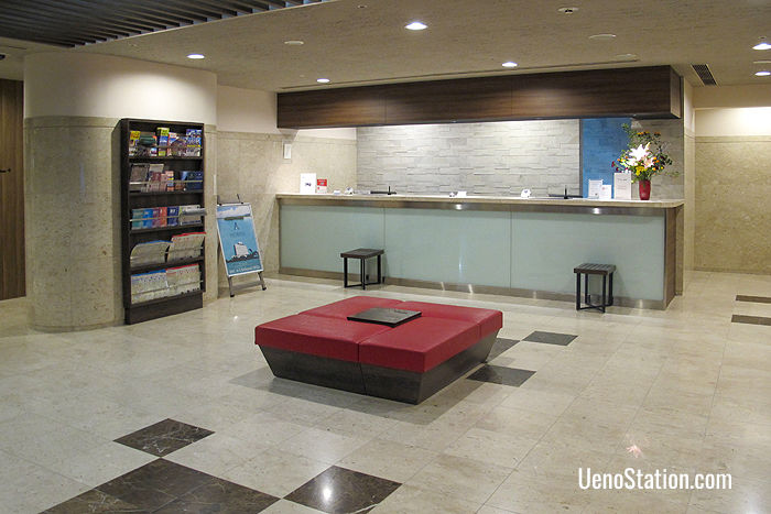 The front lobby and 24-hour front desk