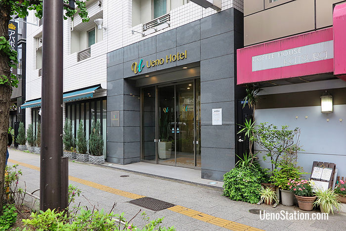 The entrance to Ueno Hotel