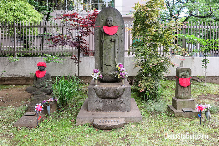 A statue of Jizo; the Buddhist patron deity of children and travelers