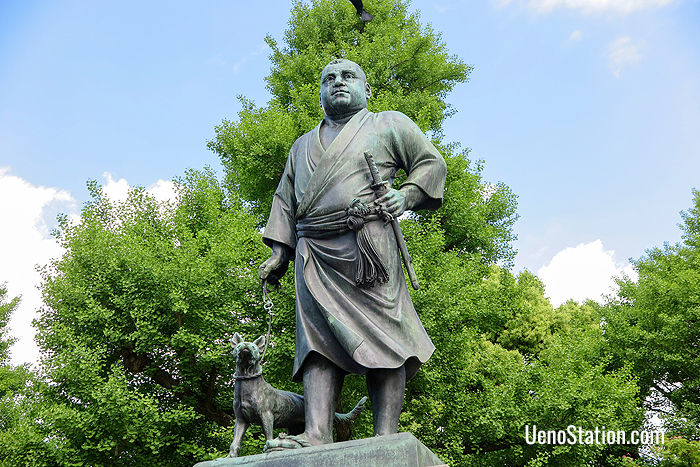 The bronze statue of Saigo Takamori
